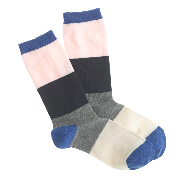 Colorblock trouser socks