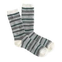 Heart Fair Isle trouser socks