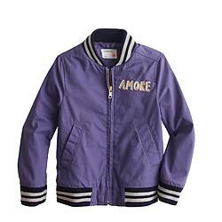 Girls' bomber jacket