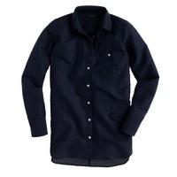 Long cotton-linen boy shirt