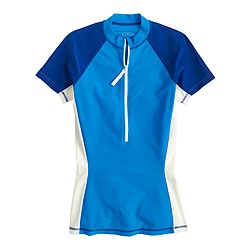 Colorblock short-sleeve rash guard