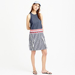 Collection chambray striped tapestry dress