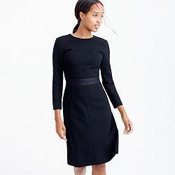 Double-faced wool crepe dress