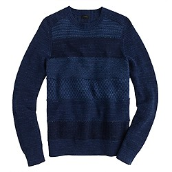 Faded striped cotton sweater