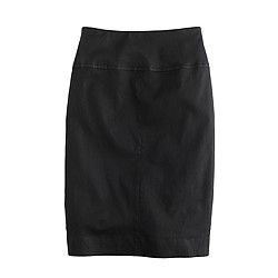 Collection stretch leather pencil skirt