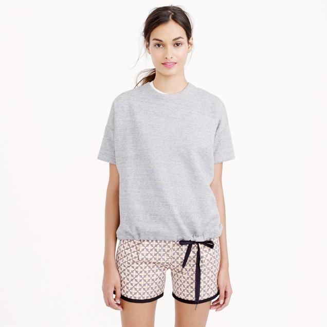 Short-sleeve drawstring sweatshirt : | J.Crew