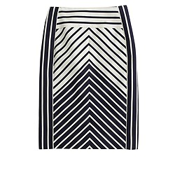 Pencil skirt in chevron stripe
