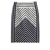 Petite pencil skirt in chevron stripe