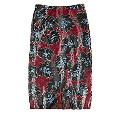 Collection sequin firework floral skirt