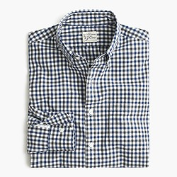 Slim Secret Wash shirt in microcheck