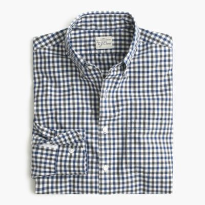 Slim Secret Wash shirt in microcheck