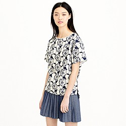 Collection floral eyelet top