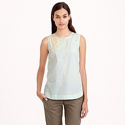 Scattered floral sequin shell