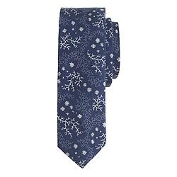 Italian cotton tie in antler print