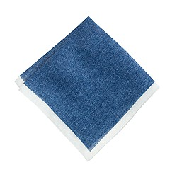 Italian mélange linen pocket square