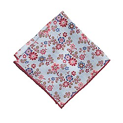 Italian linen pocket square in dandy floral