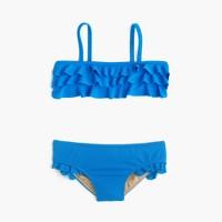 Girls' ruffle bikini set