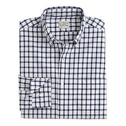 Slim Secret Wash shirt in classic navy tattersall