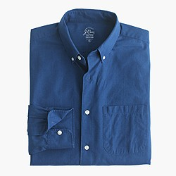 Slim indigo cotton shirt
