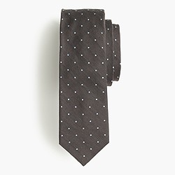 Italian silk tie in large dots