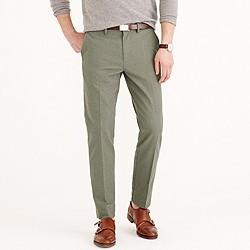 Bowery slim pant in brushed herringbone cotton
