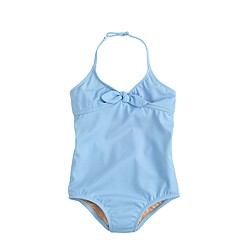 Girls' one-piece swimsuit with bow