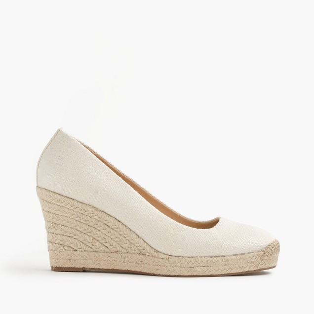 Seville metallic espadrille wedges