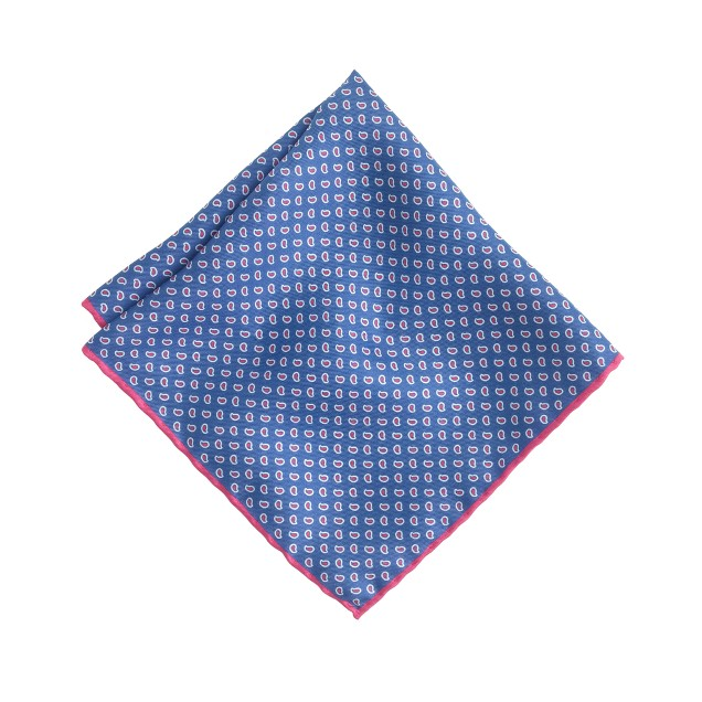 Italian linen pocket square in paisley
