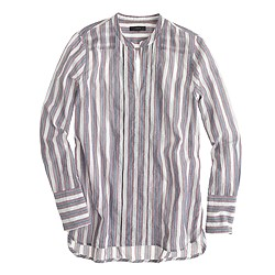 Popover tunic in muslin stripe