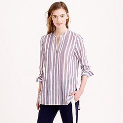 Popover tunic in muslin stripe