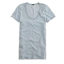 Scoopneck T-shirt in slub cotton