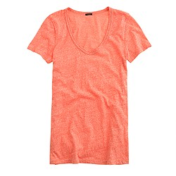 Speckled vintage cotton scoopneck T-shirt