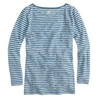 Painter boatneck T-shirt in indigo stripe