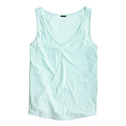 Slub cotton tank top