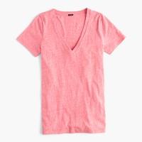 V-neck T-shirt in slub cotton