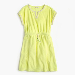 Girls' drawstring terry dress