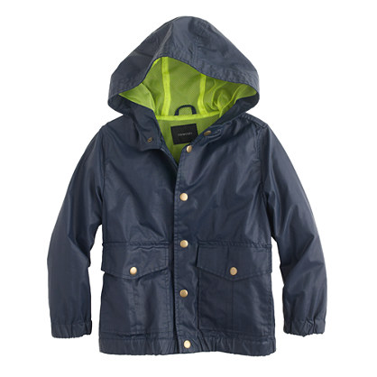 Boys' cotton-nylon slicker