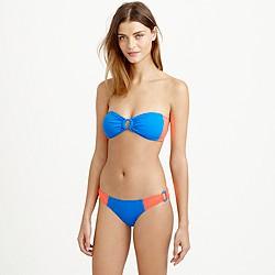 Colorblock ring bandeau bikini top