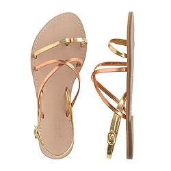 Girls' cross-strap flat sandals