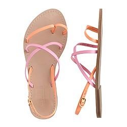 Girls' cross-strap flat sandals