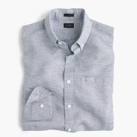 Irish cotton-linen shirt in solid