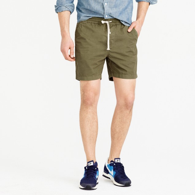 Dock short in garment-dyed chino