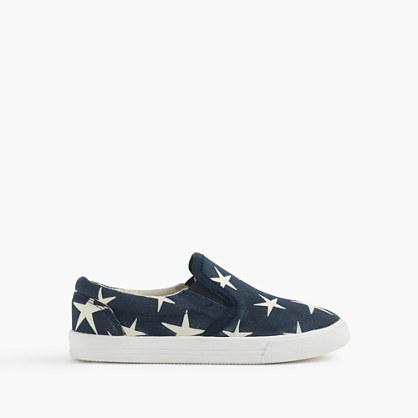 Girls' printed slide sneakers