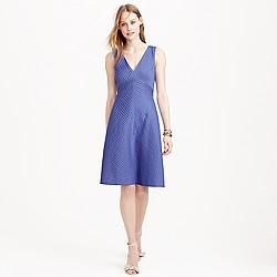 Tall chevron pleated dress