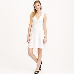 Petite chevron pleated dress
