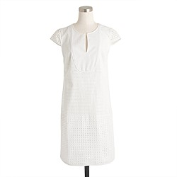 Triple eyelet shift dress