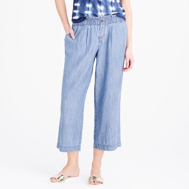 Pull-on Tencel®-linen pant