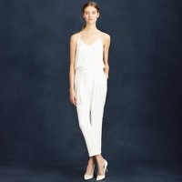 Crepe de chine bridal jumpsuit