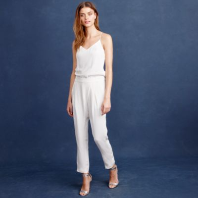 Wedding Bridal Jumpsuits crepe de chine bridal jumpsuit j crew jumpsuit