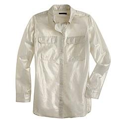 Lightweight camp shirt in whisper lamé
